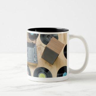 Records on Floor 2 Two-Tone Coffee Mug