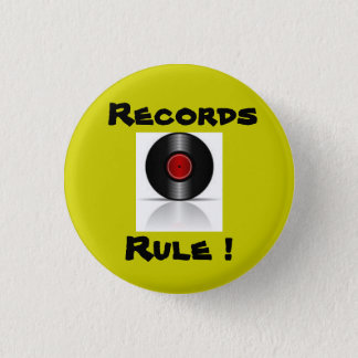 Records Rule ! 1 Inch Round Button