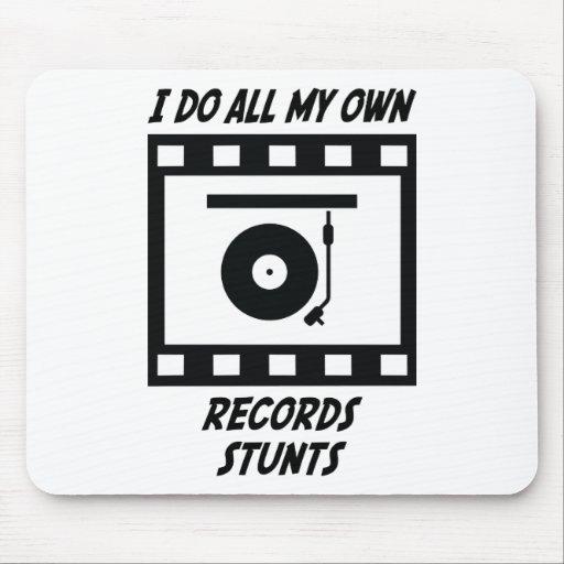 Records Stunts Mouse Mats
