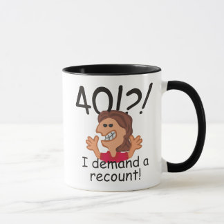 Recount 40th Birthday Mug