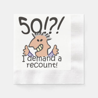 Recount 50th Birthday Paper Napkins