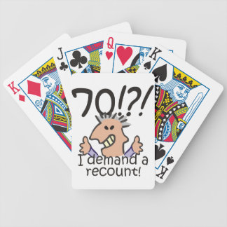 Recount 70th Birthday Bicycle Playing Cards