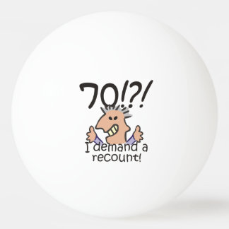 Recount 70th Birthday Ping Pong Ball