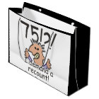 Recount 75th Birthday Large Gift Bag