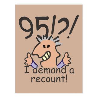 Recount 95th Birthday Postcard