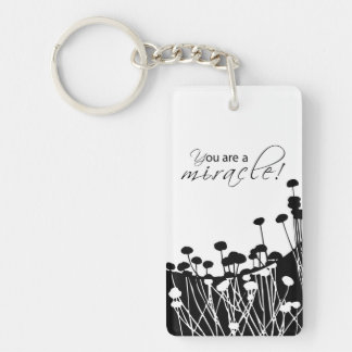 Recovery Miracle, Black and White Keychain