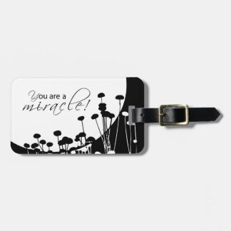 Recovery Miracle, Black and White Luggage Tag