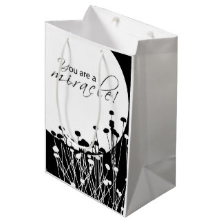 Recovery Miracle, Black and White Medium Gift Bag