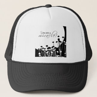 Recovery Miracle, Black and White Trucker Hat