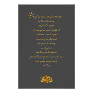Recovery Poem Art Poster