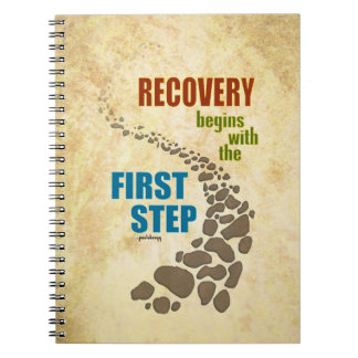 Recovery, the First Step (12 step, drug free) Note Book