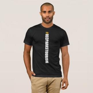 #RECPARKSTOURISM Men's T-Shirt (Vertical Black)
