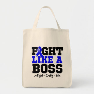 Rectal Cancer Fight Like a Boss Canvas Bag