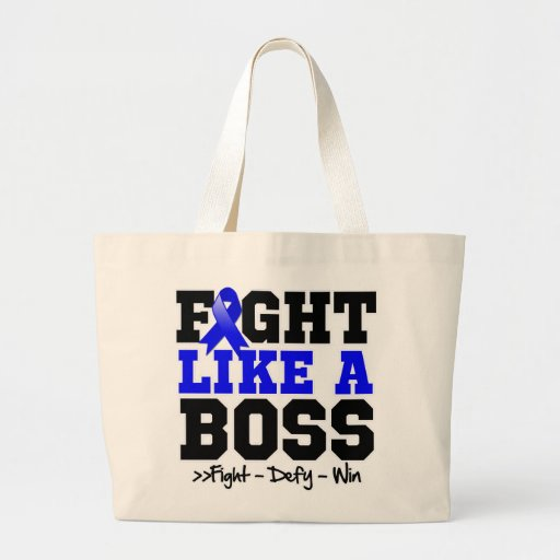 Rectal Cancer Fight Like a Boss Canvas Bags