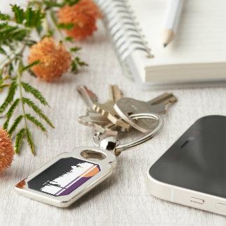 Rectangle AZ POSTCARD DESIGN Keychain