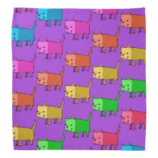 rectangle dog funny cartoon bandana