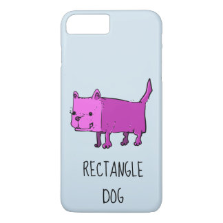 rectangle dog funny cartoon iPhone 8 plus/7 plus case