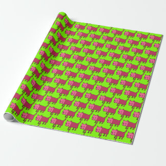 rectangle dog funny cartoon wrapping paper