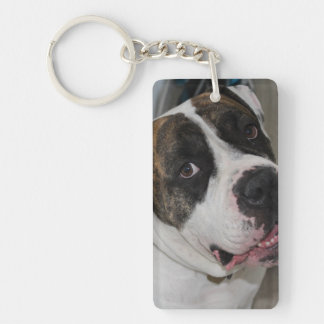 Rectangle (double face) Key-ring has to Double-Sided Rectangular Acrylic Keychain