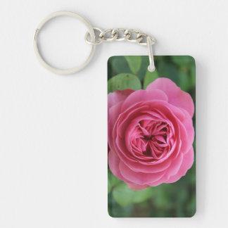 Rectangle (double face) Macro Pink Key-ring Double-Sided Rectangular Acrylic Keychain