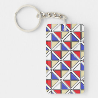 Rectangle (double-sided) Keychain art by J Shao
