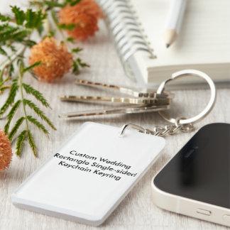 Rectangle fait sur commande KeychainRing à simple Porte-clé Rectangulaire En Acrylique Une Face