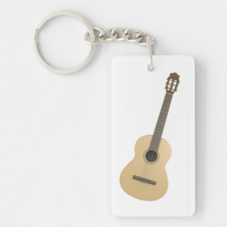 Rectangle Keychain Classical Guitar