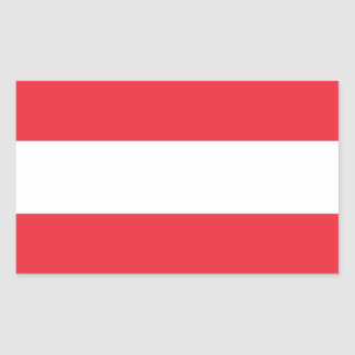 Rectangle sticker with Flag of  Austria
