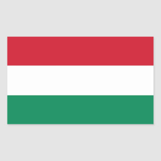 Rectangle sticker with Flag of Hungary