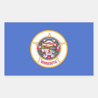 Rectangle sticker with Flag of Minnesota, U.S.A.