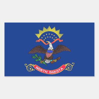 Rectangle sticker with Flag of North Dakota