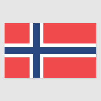 Rectangle sticker with Flag of Norway