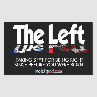 Rectangle Stickers - The Left, Defined...