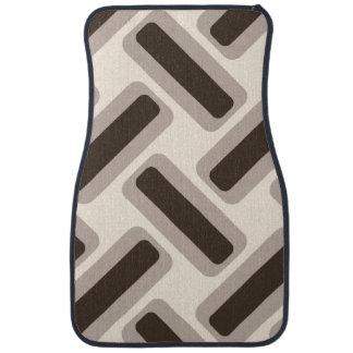 Rectangles beiges et bruns tapis de voiture