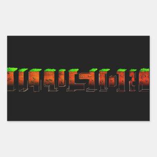 rectangular adhesive (illusion) sticker