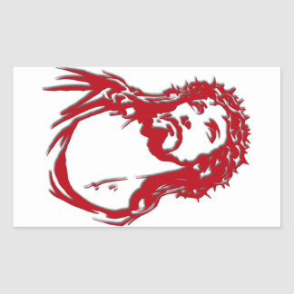 "Rectangular adhesive ""Image of Jesus "" Sticker"