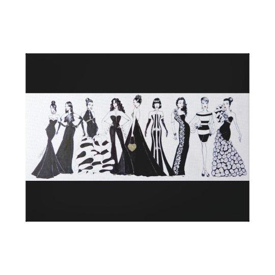 Rectangular canvas Blk & Wht Fashion Print