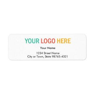 Rectangular company business logo return address