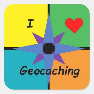 Rectangular Geocaching sticker