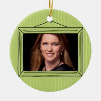 Rectangular handdrawn picture frame ceramic ornament