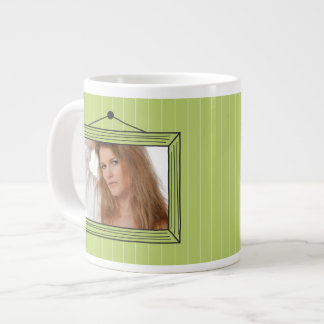 Rectangular handdrawn picture frame jumbo mug