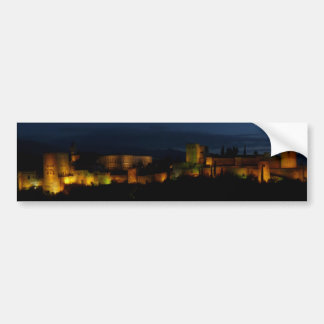 Rectangular sticker, Alhambra, Granada Bumper Sticker