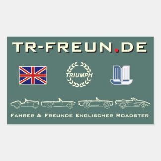 Rectangular sticker of 2 - TR-friends