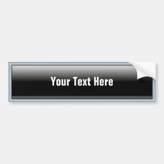 Rectangular Web 2.0 Button Bumper Sticker