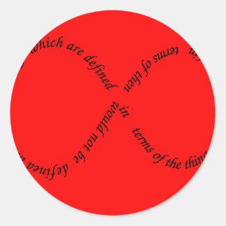 recursion through negation round sticker