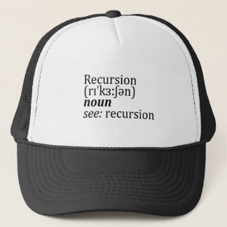 Recursion Trucker Hat