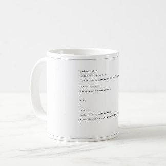 Recursive Function on White Background Coffee Mug
