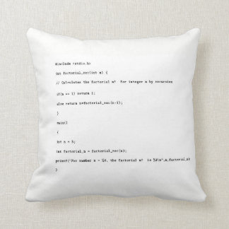 Recursive Function on White Background Throw Pillow
