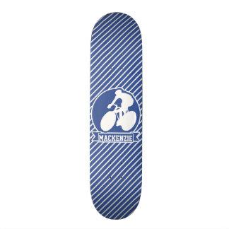 Recyclage ; Rayures bleues et blanches, sports Plateaux De Planche À Roulettes