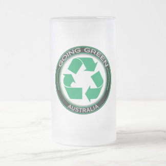 Recycle Australia 16 Oz Frosted Glass Beer Mug